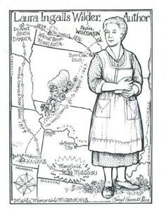 Little House On The Prairie Coloring Pages Google Search Laura