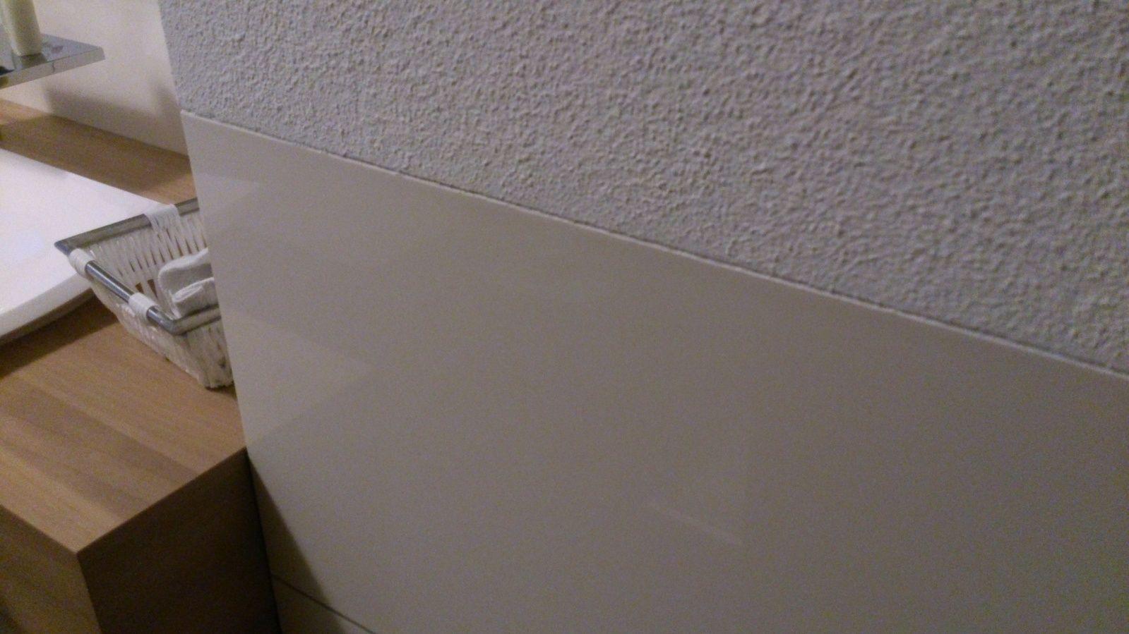 Abschluss Halbhohe Fliesen Ohne Staubrand Mit Rigips