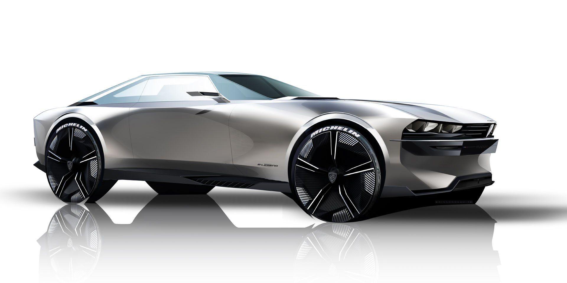 Peugeot E Legend Concept Takes Retro Design Into The Future In Paris