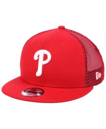 best website 6f92a 27d25 New Era Boys  Philadelphia Phillies All Day Mesh Back 9FIFTY Snapback Cap -  Red Adjustable