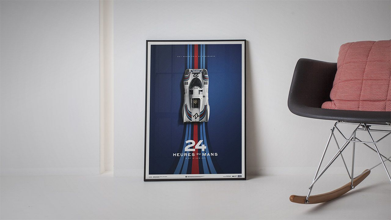 Decorar Pared Porche Porsche 917 Poster Martini Racing 24 Hours Of Le Mans Cuarto
