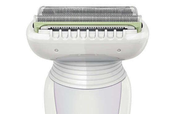Image showing the innovative double foil of Phillips Ladyshave HP6366/00
