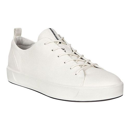 9bcd558204b7c0 Women's ECCO Soft 8 Sneaker - White Cow Full Grain Leather Platform Shoes