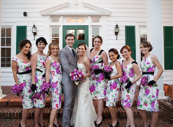 17 Best images about Printed Bridesmaid Dresses on Pinterest ...