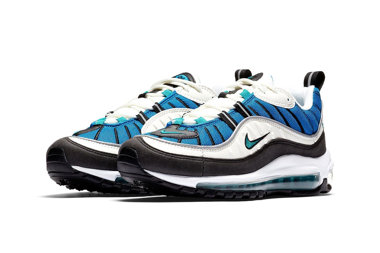 b80a822c42f867 Nike Air Max 98 blue nebula sail radiant emerald