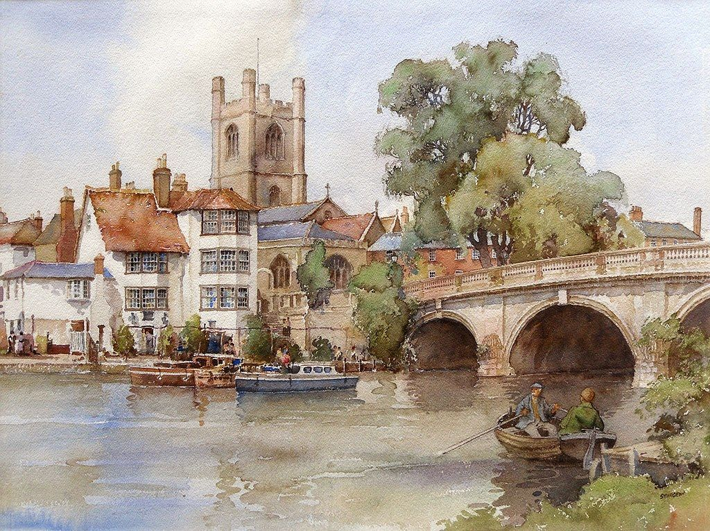 Henley on thames by eric r sturgeon british artist for Americas best paint
