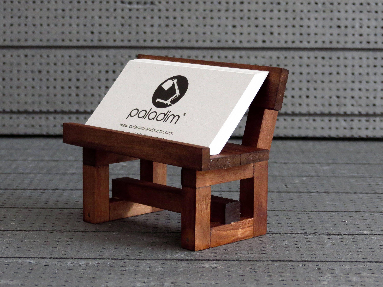 Card Holder, Office Display, Wooden Business Card Holder, Desk ...
