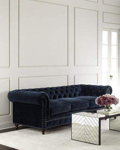 Tia 3-Cushion Chesterfield Sofa | Chesterfield sofa living ...