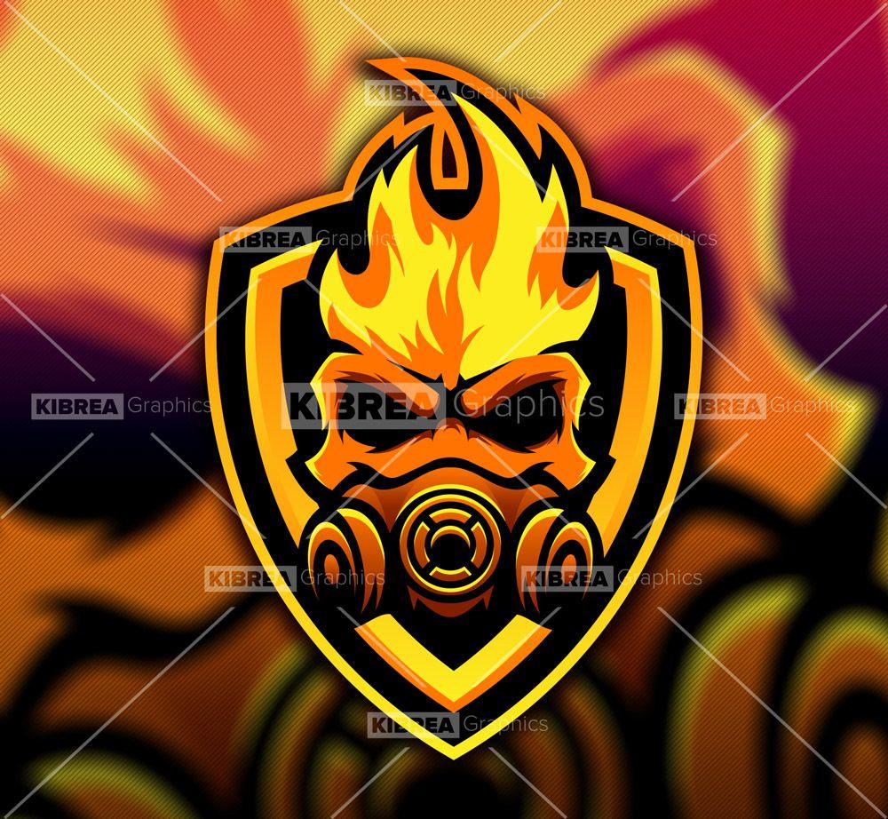 Gas Mask Mascot Logo en 2020 Logo del juego, Logotipos y