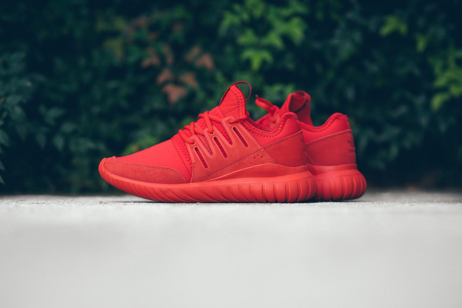 adidas Originals Tubular Radial Trainers In Red S80116 Red