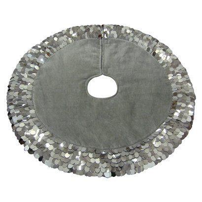 silver christmas tree skirt - Silver Christmas Tree Skirt