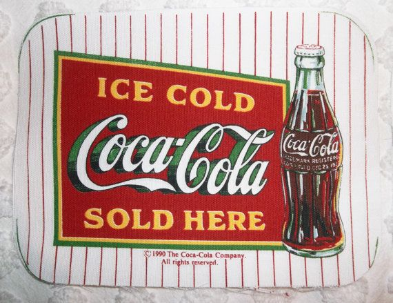 1990 Retro Vintage Rare Coca Cola Coke Kitchen Hotpads