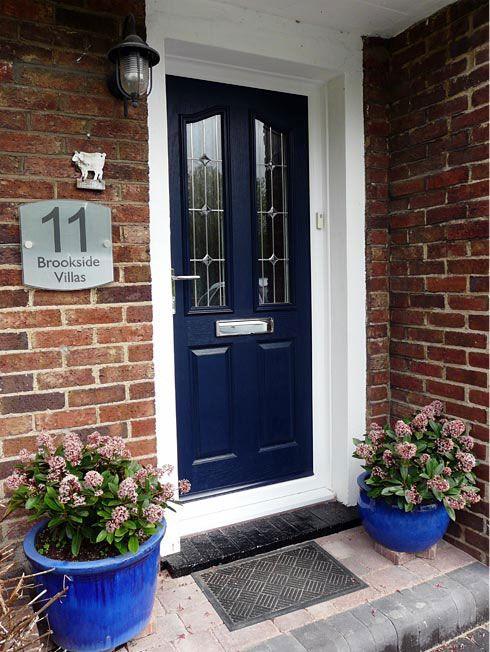 new product acc08 bbb34 navy front door | Composite doors and glass designs. | In ...