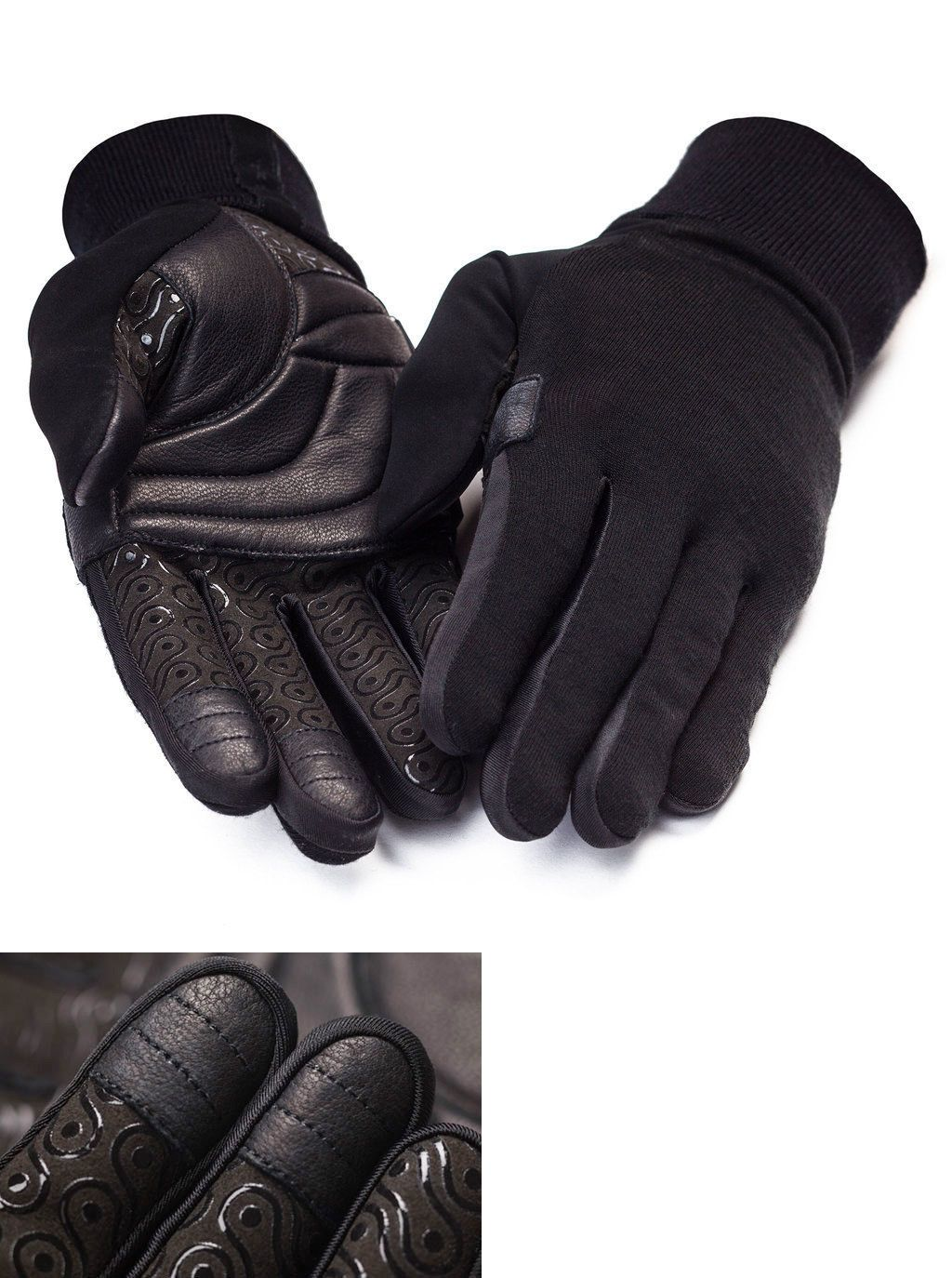 Gloves nwt rapha merino gloves with leather palm black size