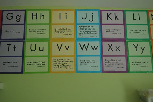 Abeka Preschool And K Cards Bible Alphabet Memory Card