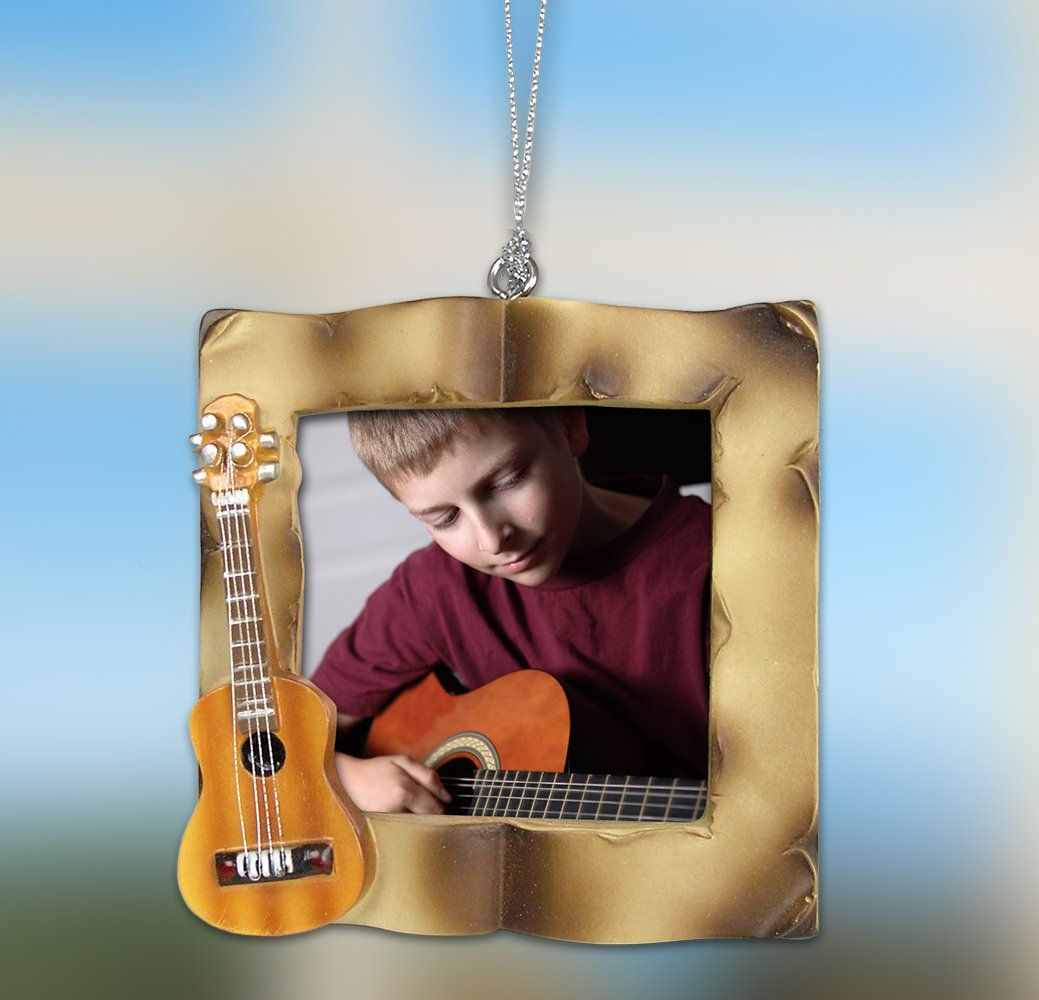 Guitar Christmas Ornament Picture Ornament For A Guitar Player Acoustic Guitar Frame Fi Picture Christmas Ornaments Music Teacher Gifts Picture Ornaments