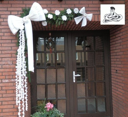 Große Schleife Weiß Hochzeit Türkranz Türschild Von