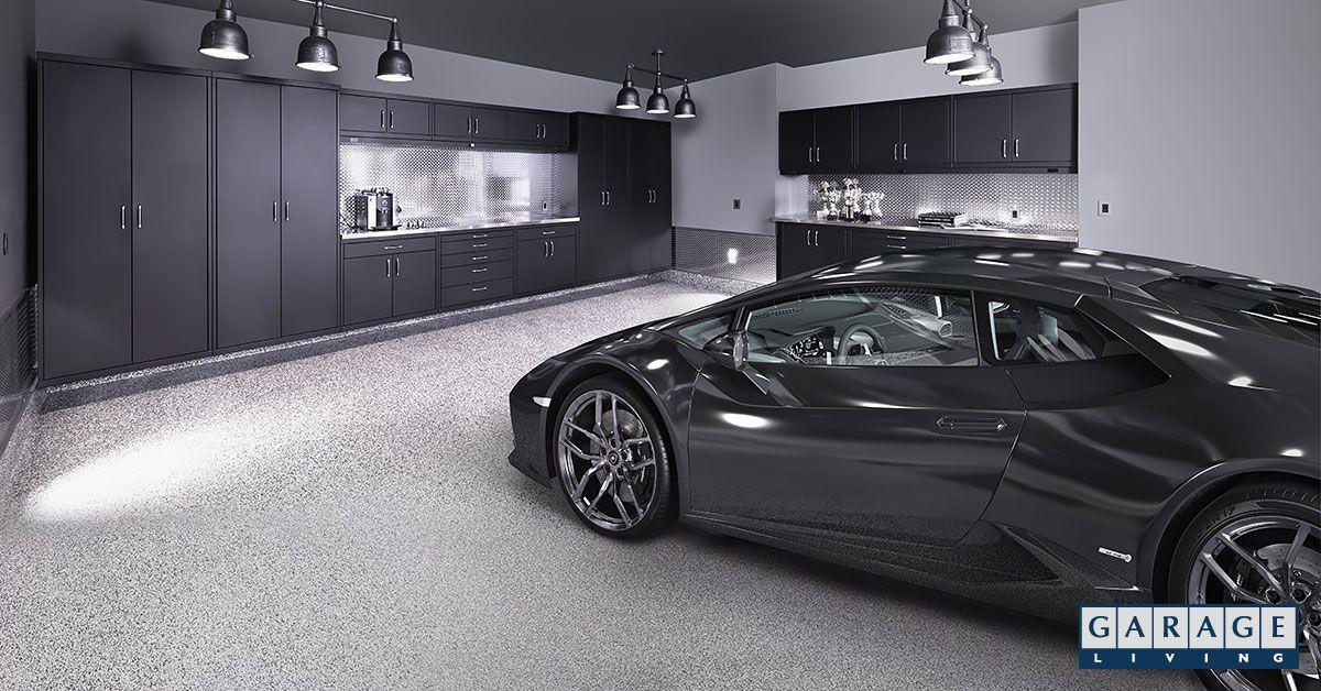 Grey Lamborghini Huracan Spyder In An Underground Garage Garage