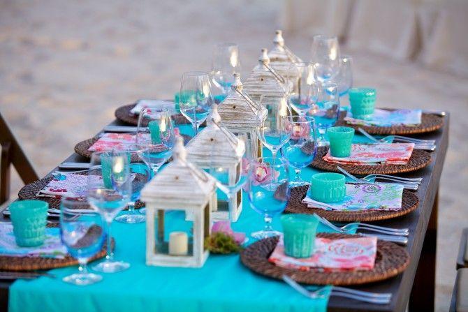 Aqua Wedding Table Runners For Weddings | Cabo Weddings: Destination  Weddings In Mexico: Cabo