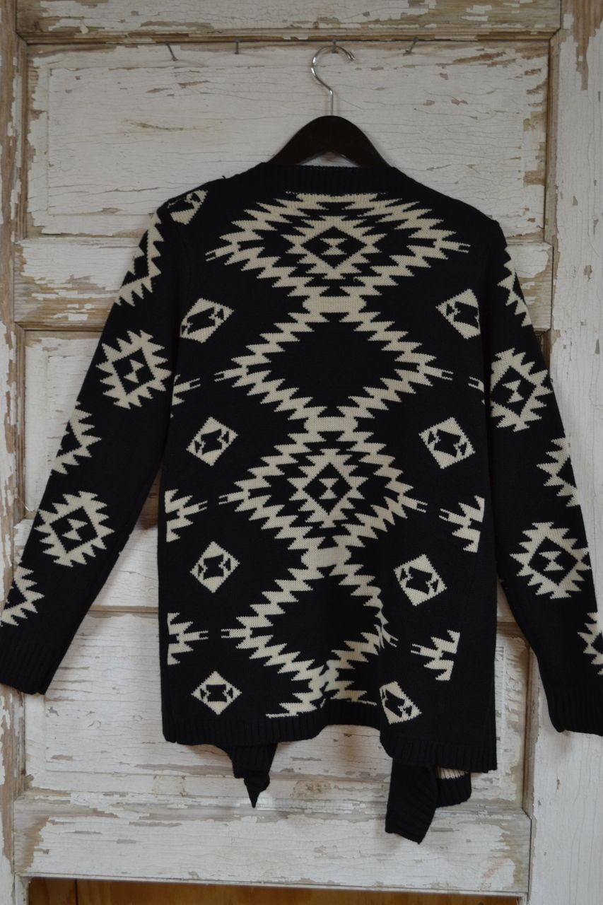 Black & Tan Aztec Sweater - Cajun Bling II