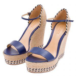 39a39d9cd Sandália anabela Schutz corda - marinho | Wedge Sandals | Sapatos ...