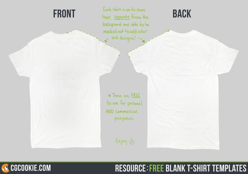 Resource Blank TShirt Templates By Cgcookie On Deviantart