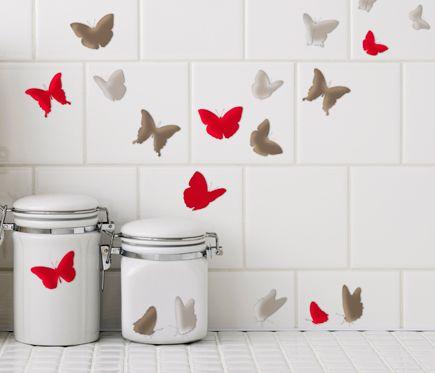 Vinilo Animales Mariposas Ii Leroy Merlin Proyectos Que
