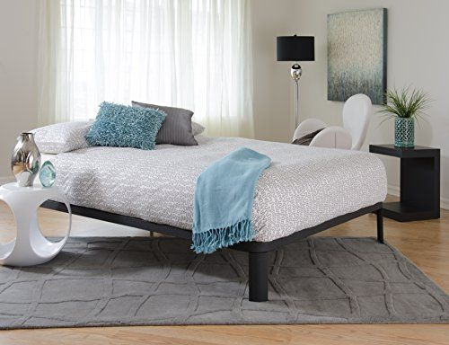 Black Metal Platform Bed (Queen) In Style Furnishing http://smile ...