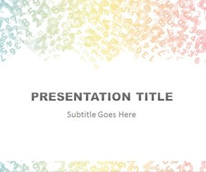 colored digits powerpoint template #free download for finance, Modern powerpoint