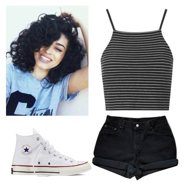"""""""✨"""" by sxrpreme ❤ liked on Polyvore featuring Converse, Levi's and Topshop"""