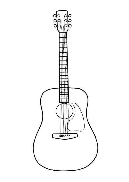 Guitarra Dibujos De Guitarras Guitarra Para Colorear Guitarras
