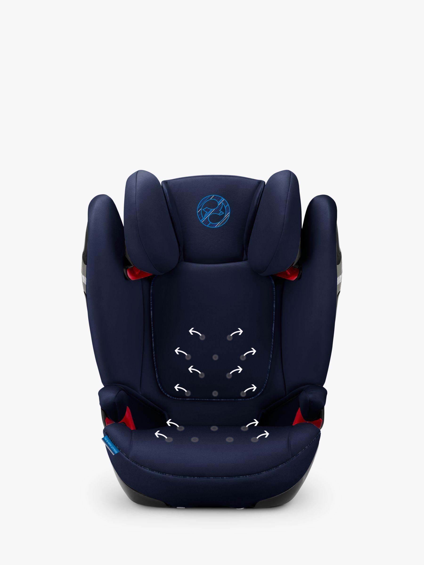 Cybex Solution S Fix Group 2 3 Car Seat Indigo Blue Car Seats Car Baby Car Seats