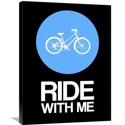 Naxart 'Ride With Me Circle Poster 2' Graphic Art on Wrapped Canvas Size: