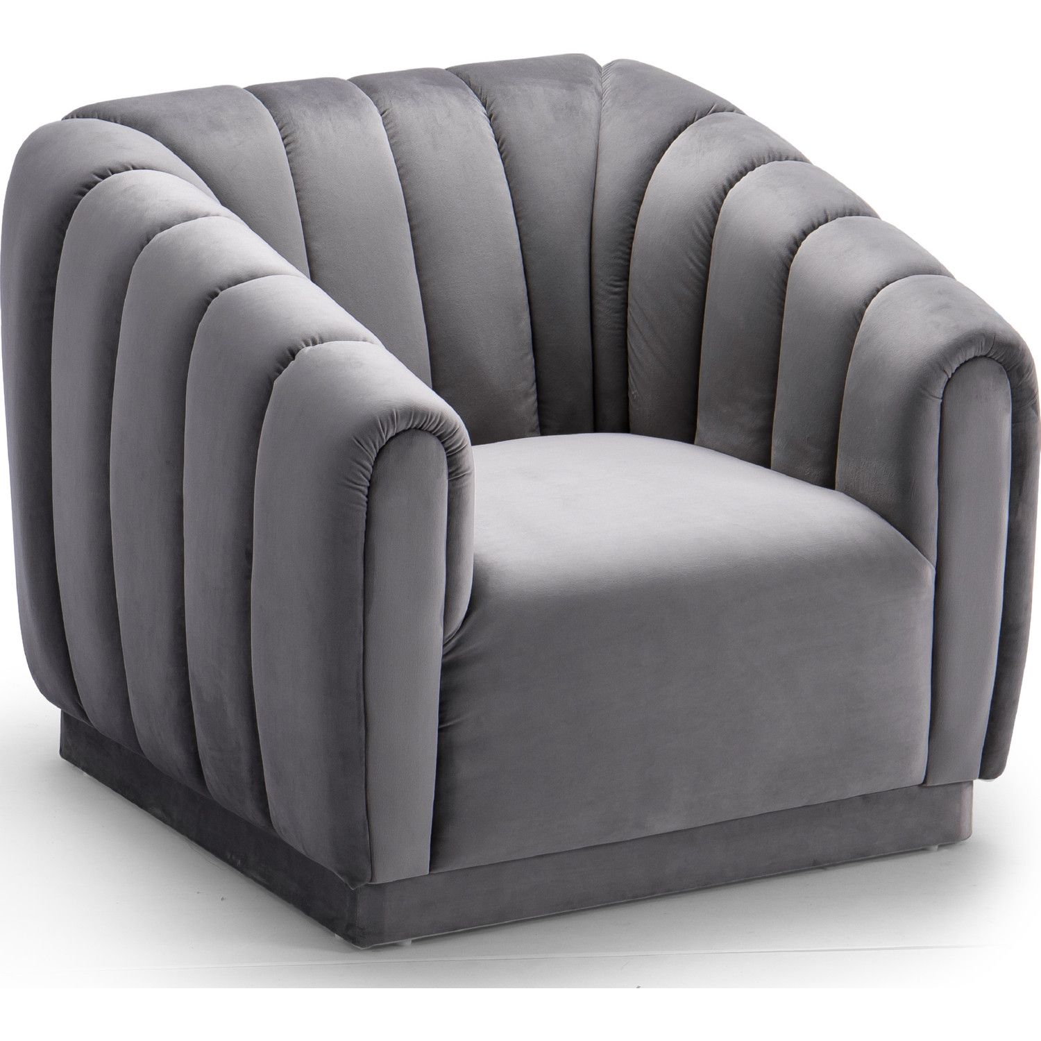 Chic Home Fcc9241 Dr Van Gogh Club Chair Channel Tufted Grey Velvet In 2020 Luxury Chairs Chic Home Club Chairs