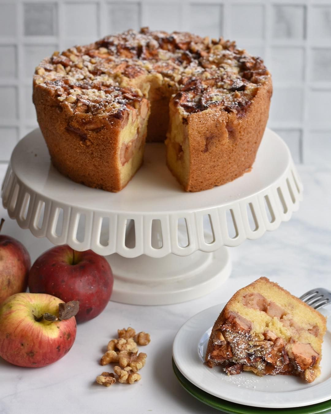 In The Kitchen This Weekend Making Mom S Apple Cake From
