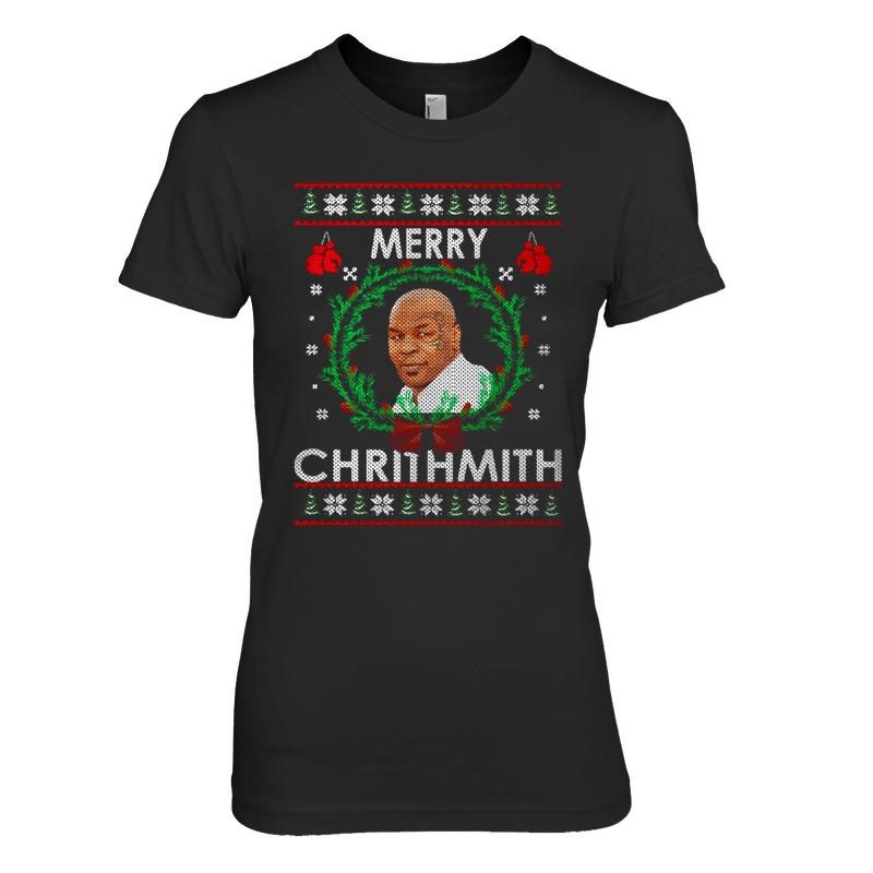 Mike Tyson Merry Chirithmith Christmas Shirt Womens Cotton