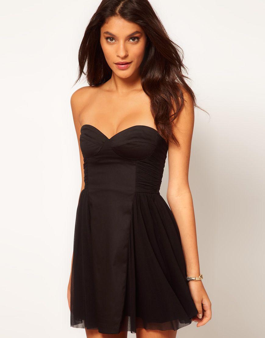 81ec2c96fb05 ASOS Strapless Skater Dress with Sweetheart neckline $18 | Cyber ...