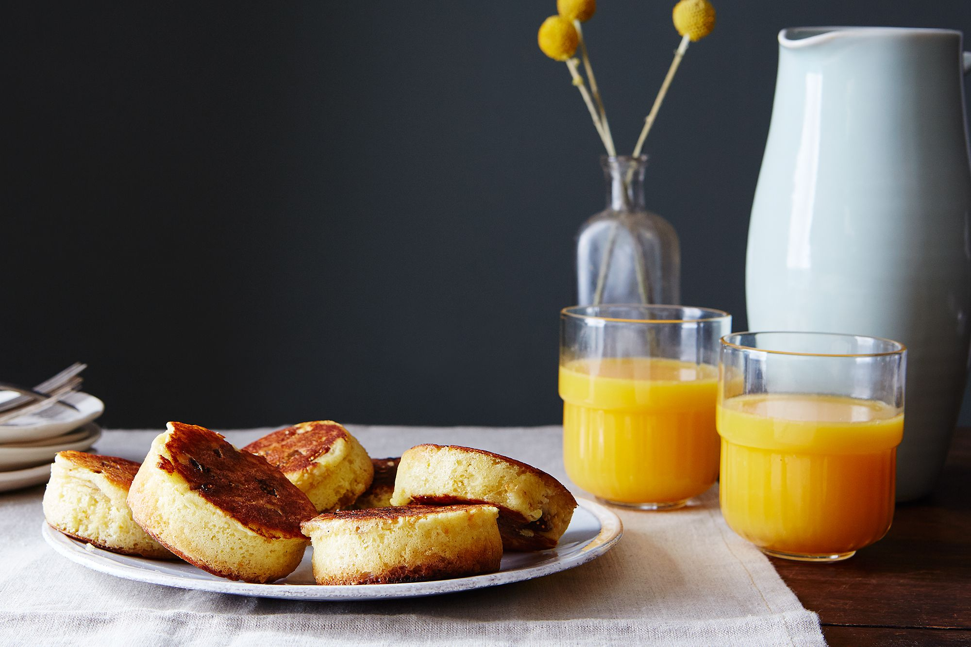 Puffy and Fluffy Ricotta Pancakes with Orange and Fig   Receta