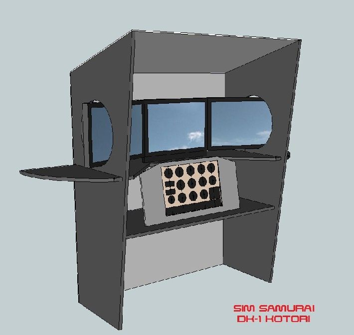 Diy flight simulator cockpit blueprint plans and panels for Build your own house simulator