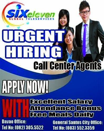 Job Hunt Davao Bpo Jobs Davao Six Eleven Global Is In Need Of 150 Centerts