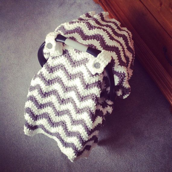 Crochet Pattern for Chunky Chevron Car Seat Canopy Cover - Welcome ...