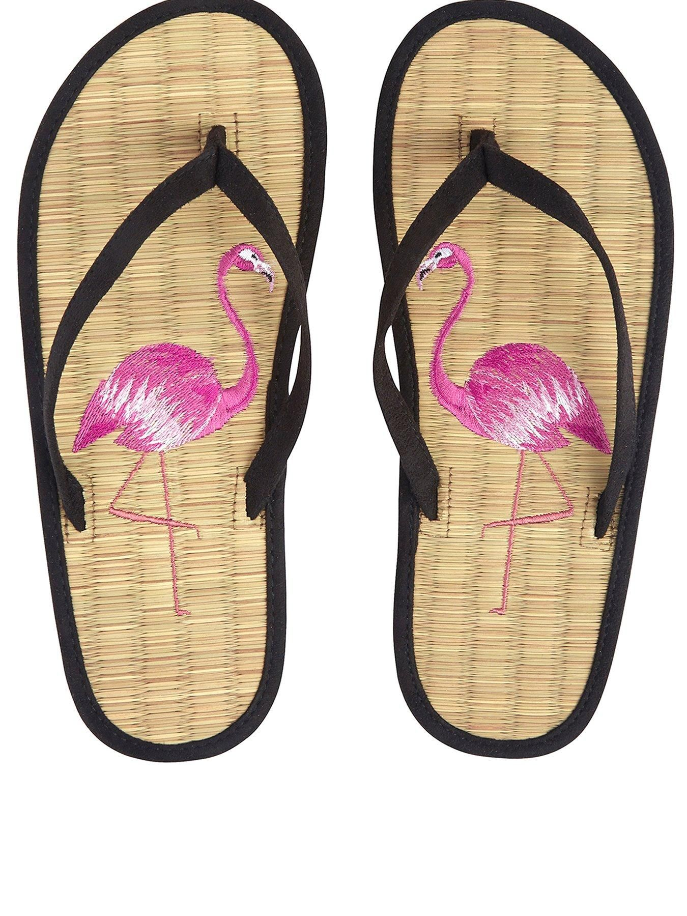 84075b222 Accessorize Flirty Flamingo Seagrass Flip Flop Sandal