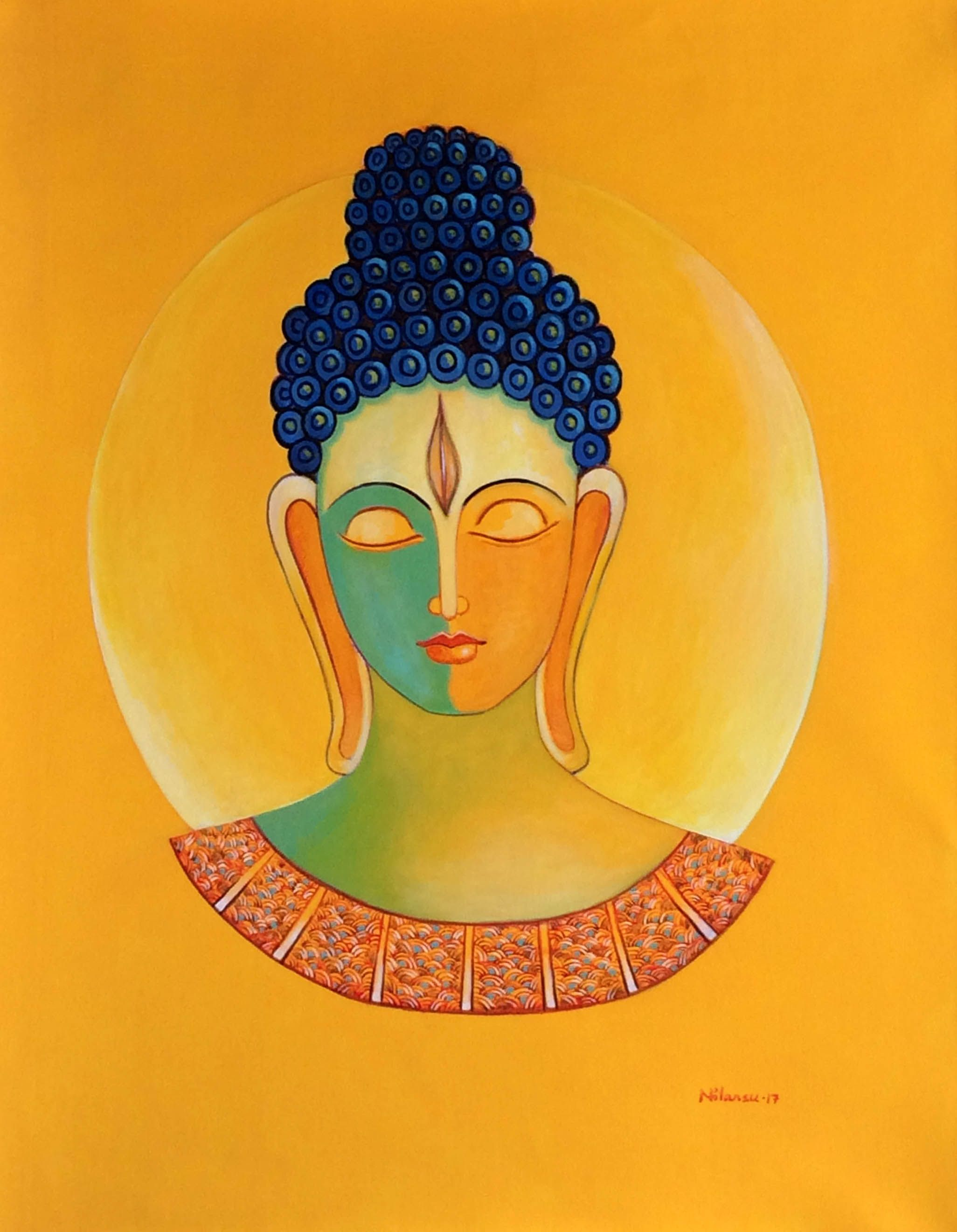 Buddha by artist Nilansu Bala Sasamal , Bhubaneswar, Paintings ...