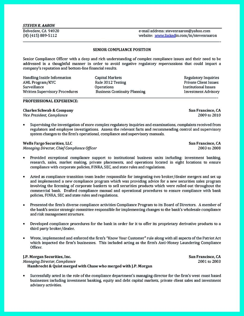 compliance officer resume spanish teacher resume prep cook and