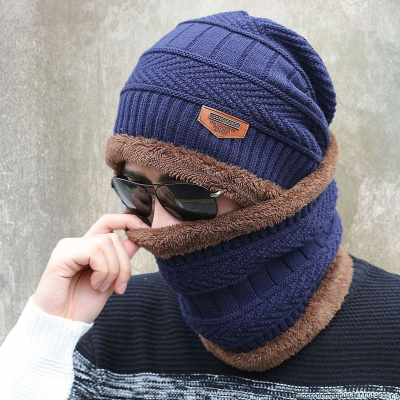 Knitted hat fashion Beanies Knit Men s Winter Hat Caps Skullies Bonnet For  Men Women Beanie Casual Warm Baggy Bouncy 274ea99aa29