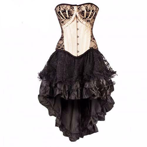 Dolce Flora Gothic Corset Gothic-Overbust-Dress-Corset