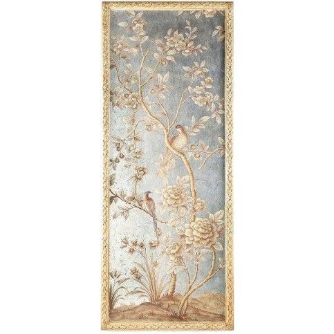 Bradburn home silverleaf and gold chinoiserie wall panel 1 on backorder until mid june