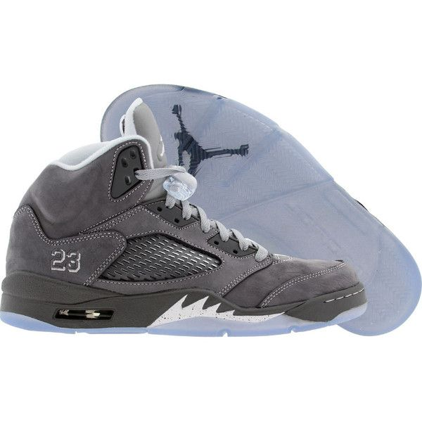 Air Jordan 5 V Retro Wolf Grey (light graphite white wolf grey) Shoes  ( 180) ❤ liked on Polyvore featuring shoes 24880e486