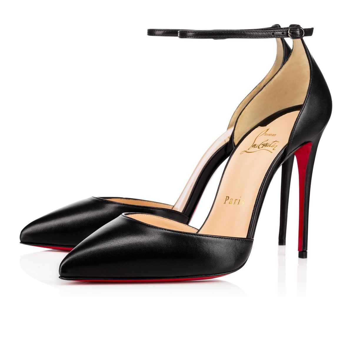 abf1b389f0f CHRISTIAN LOUBOUTIN Uptown 100 Black Leather - Women Shoes ...