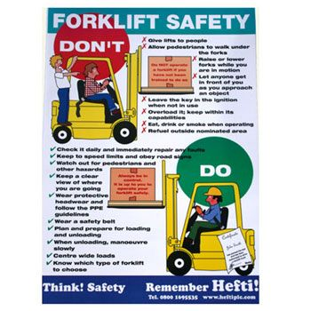 Fork Lift Safety Poster #forklifts | Workhouse and Depot ...